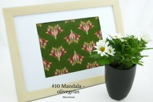 #10 Mandala - olivegrün