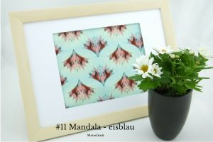 #11 Mandala - eisblau