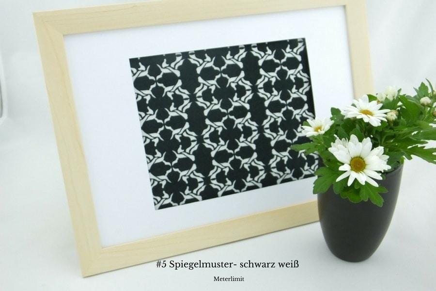 #5 Spiegelmuster- Schwarz Weiß Baumwolljersey • Meterlimit