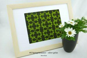 Spiegelmuster - olive grü