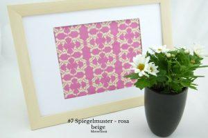 #7 Spiegelmuster - rosa beige