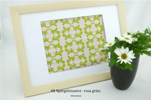 #8 Spiegelmuster- rosa grün