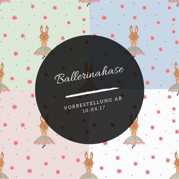 Ballerinahase 4 Farben Meterlimit Jersey