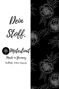 #52 Zauberhafte Rose schwarz Jersey Meterlimit Pinterest