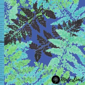 #127 Farnliebe blau Jersey Meterlimit Jersey Stoff Meterware 0,5m Produktbild