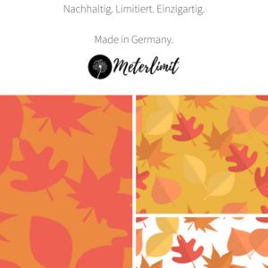 Limitierter Baumwolljersey Herbstblätter im Shop mit Stoff und Liebe