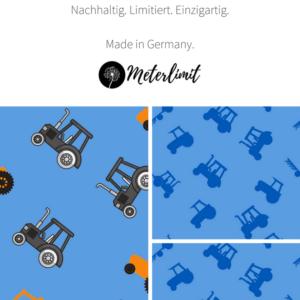 Baumwolljersey Traktor - Stoffe kaufen im Shop mit Stoff und Liebe bei Meterlimit