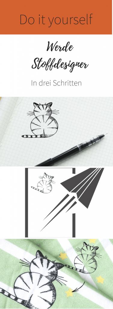 Stoff bedrucken DIY- Werde zum Stoffdesigner in drei Schritten