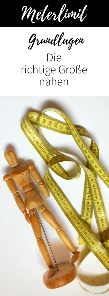 Nähe deine Kleidung in der richtigen Größe. Wie du diese auswählst, erfährst du im Beitrag Richtige Größe nähen von Meterlimit