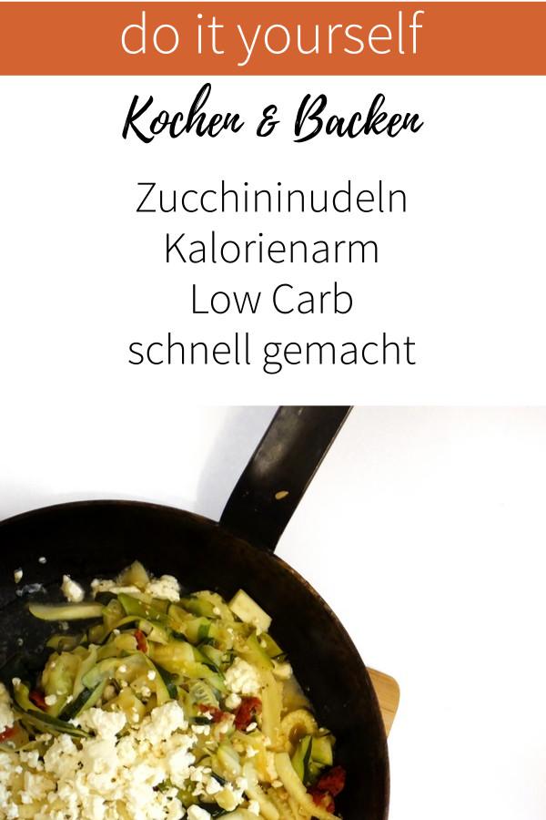 Zucchininudeln mit Pfiff- Low Carb, Kalorienarm, schnell gemacht
