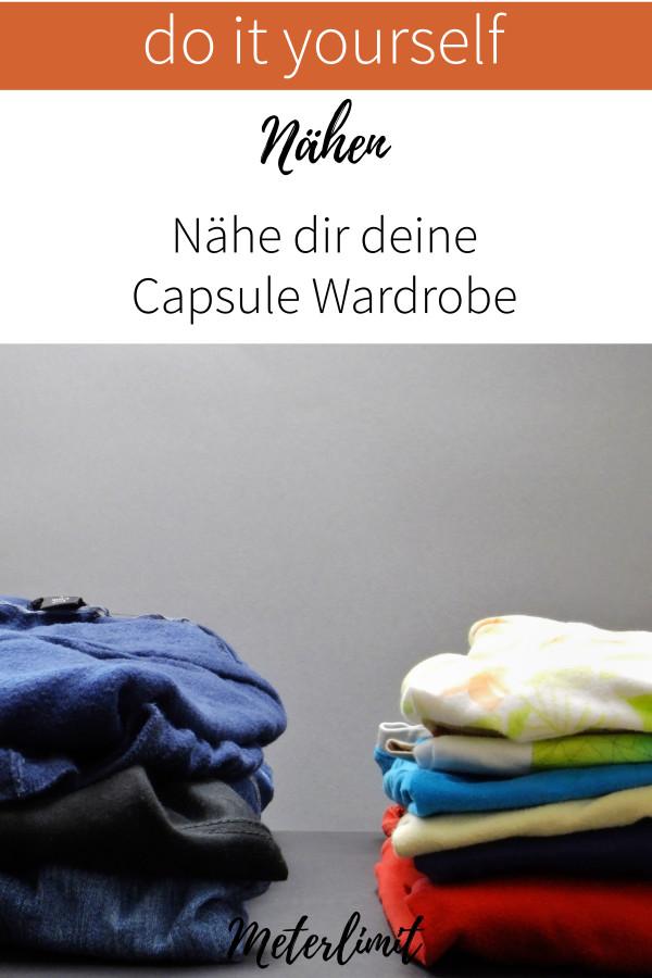 Nähe deine Capsule Wardrobe - egal ob aus Jersey, Baumwolle - werde mit deiner Garderobe glücklich!