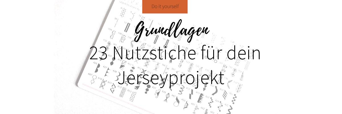 23 Nutzstiche für dein Jerseyprojekt