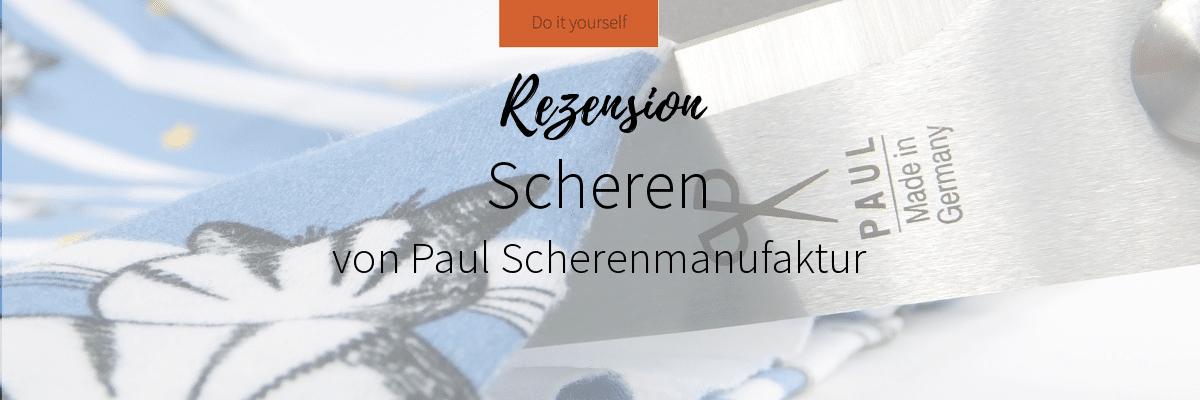 Banner Stoffschere Paul Scherenmanufaktur