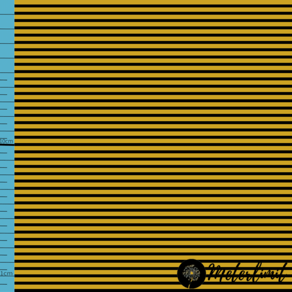 MLBSL-#0004 Schwarze Linien Lemon Curry gelb Baumwolljersey Vorlage_ Maßband+Logoxcf cropped