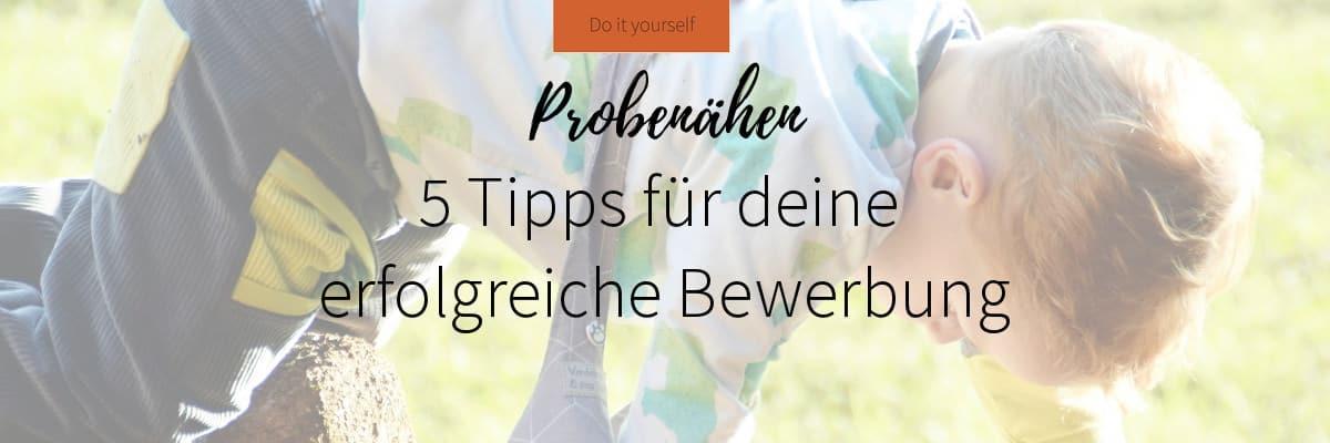 Probenähen Tipps